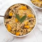 vegan butternut squash farro risotto