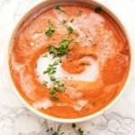 Dairy free vegan creamy tomato soup