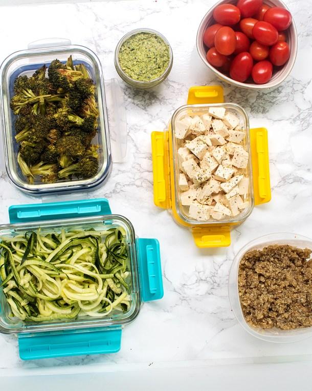 vegan meal prep 1 week plan