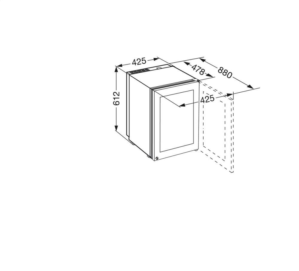 Liebherr WS1200 17 Inch Freestanding Wine Cabinet with 12
