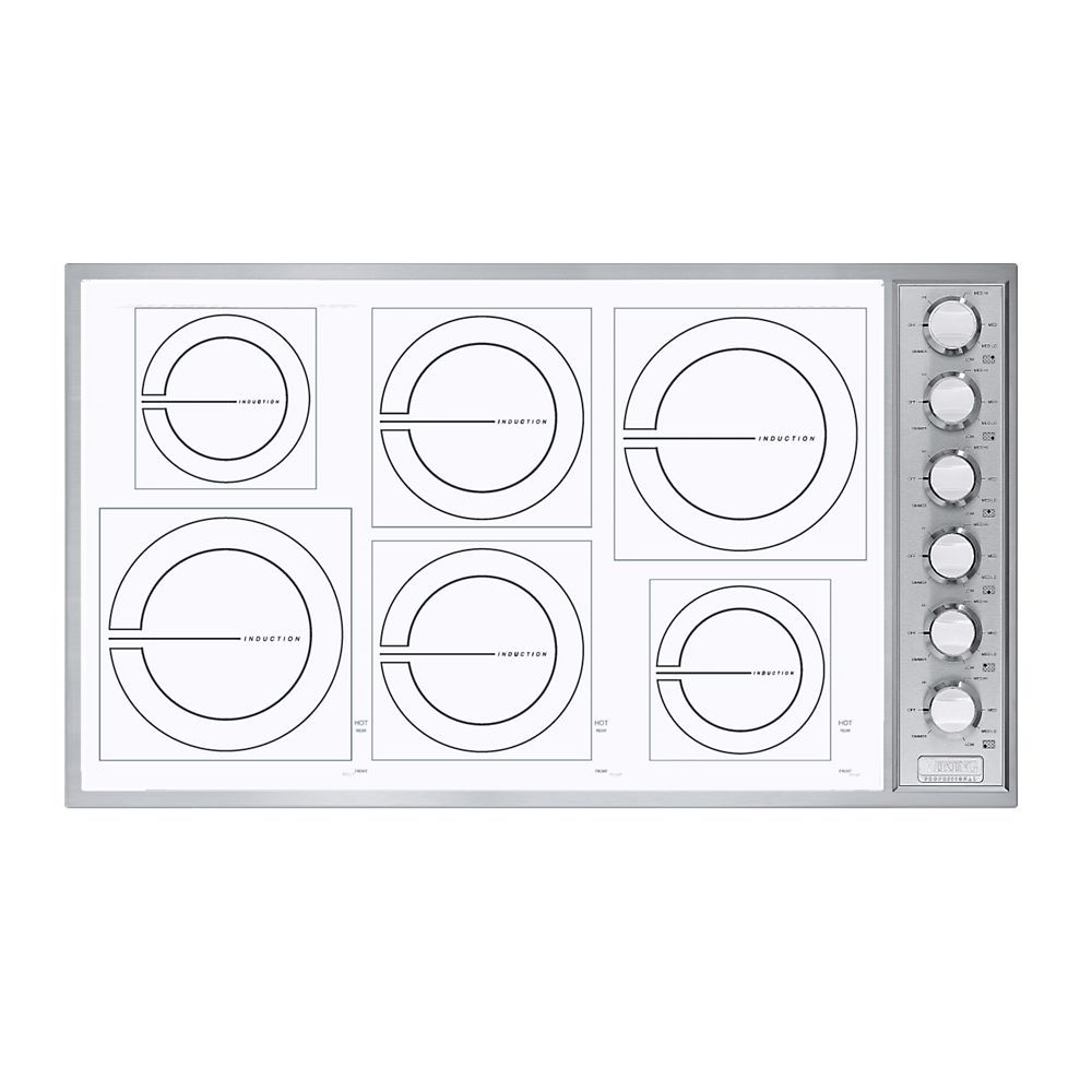 Viking VICU2666BSW 36 Inch Induction Cooktop with 6