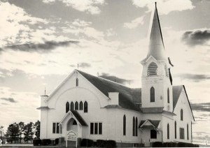 Until 1902 the Vohlynian Germans who settled in the Freeman, S.D. area worshipped in two churches. When a wind storm destroyed one of them they joined together to become the Salem-Zion Church. When that church became too small they built this church, the Salem (South) Mennonite church in 1909. Photo Credit: Freeman Heritage Hall Archives, www.montanatreeline.com.