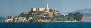 Alcatraz Island in San Franscisco Bay (1900) was a military prison when the four Hutterite young men were imprisoned there in 1917. Alcatraz became a federal prison in 1933 intended for criminals who could not be rehabilitated. Photo Credit: Christian Mehlführer, Wikipedia Commons.