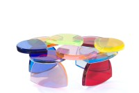 Coffee table in plexiglas 'Bon Bon' by M. Pettinari - Cast ...