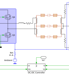 dc dc converter single phase battery charger plexim dc dc converter transformer wiring diagram  [ 1600 x 824 Pixel ]