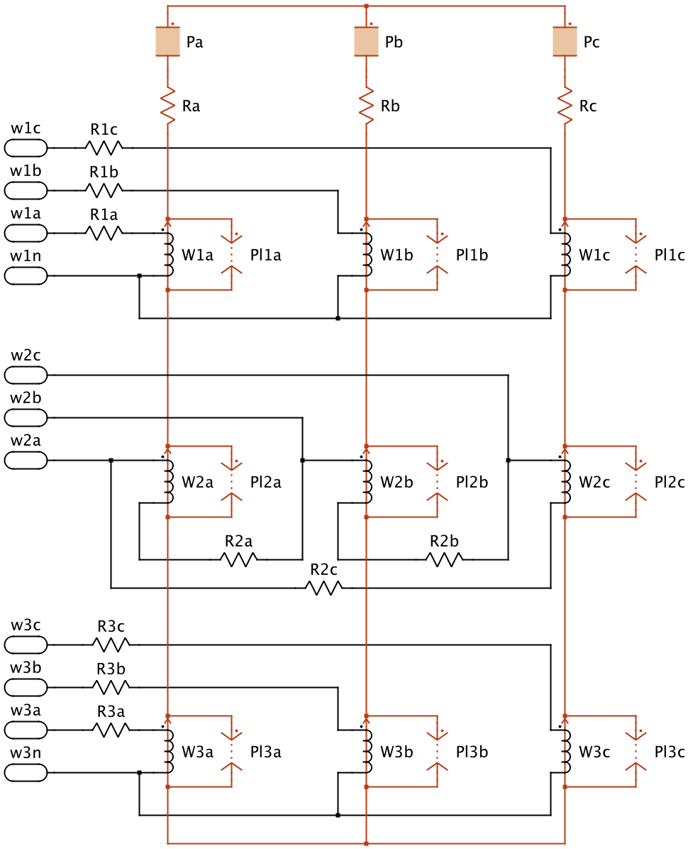 medium resolution of  purely electrical equivalent circuit the layout of the core structure is more intuitive to understand and it is possible to model complex non linear