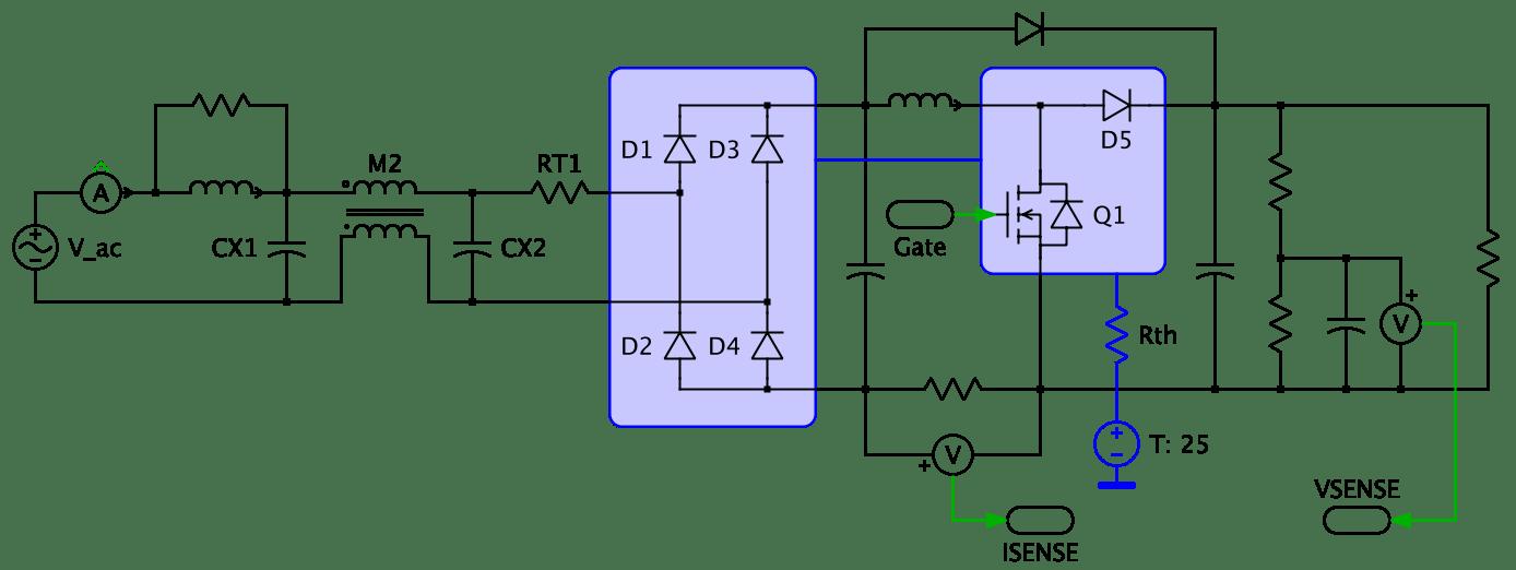 Single Phase 220v Wiring Diagram Single Phase Supply With Power Factor Correction Plexim