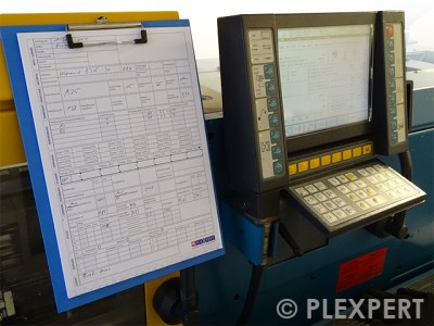 Machine Setup Sheet in Plastic Industry