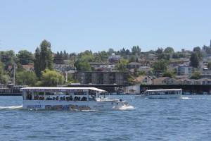 Premier Law Group present Seattle Ducks Boat on the Pudget Sound.
