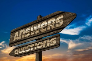 Sign showing Question or Answer for PIP Coverage
