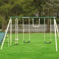 6 Station Backyard Swing Set Would Be An Enjoyable Place ...
