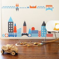 Boodalee City Wall Stickers for Modern Nursery Decor ...