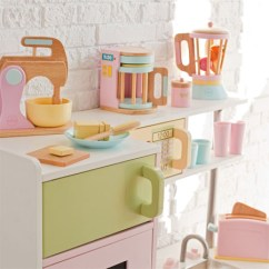 Kitchen Kid Under Cabinet Lighting Complete Your S Imaginary With Wooden Kidkraft Pastel Accessories