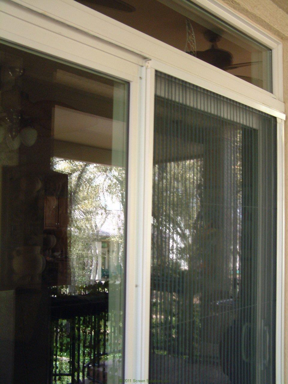 Plisse Sliding Glass Retractable Door Screens  Retractable Screens for Doors