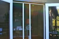 Plisse Double Door Retractable Screen GalleryRetractable