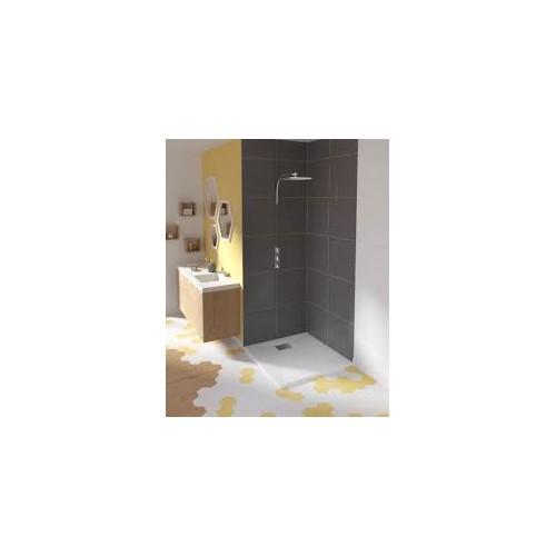 receveur kinesurf 4cm blanc 150x90 anti derapant bonde petit cote
