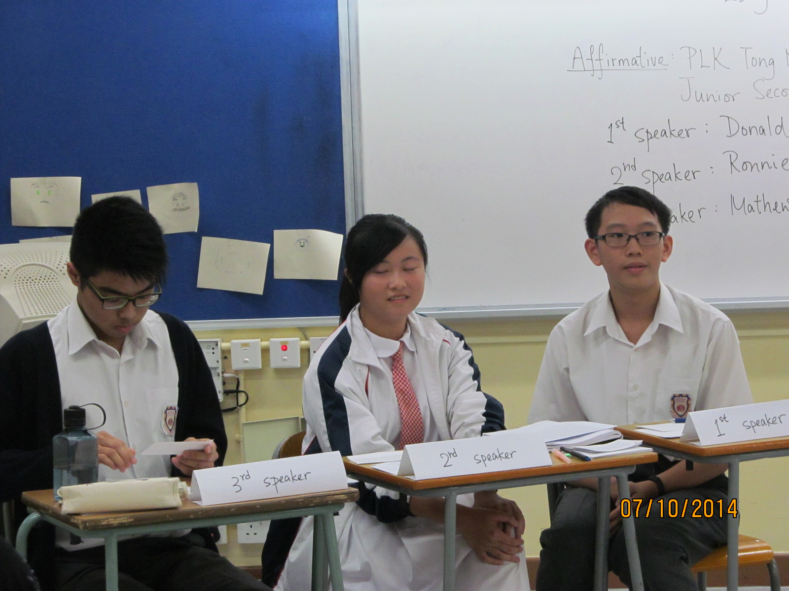 First Round of HKSS Debating Competition   w.TNKJSC