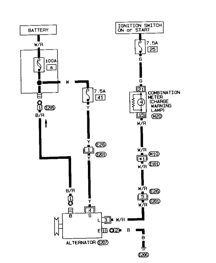 Nissan Alternator Wiring Diagram on nissan quest