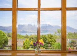 View from Reraig cottage dining area