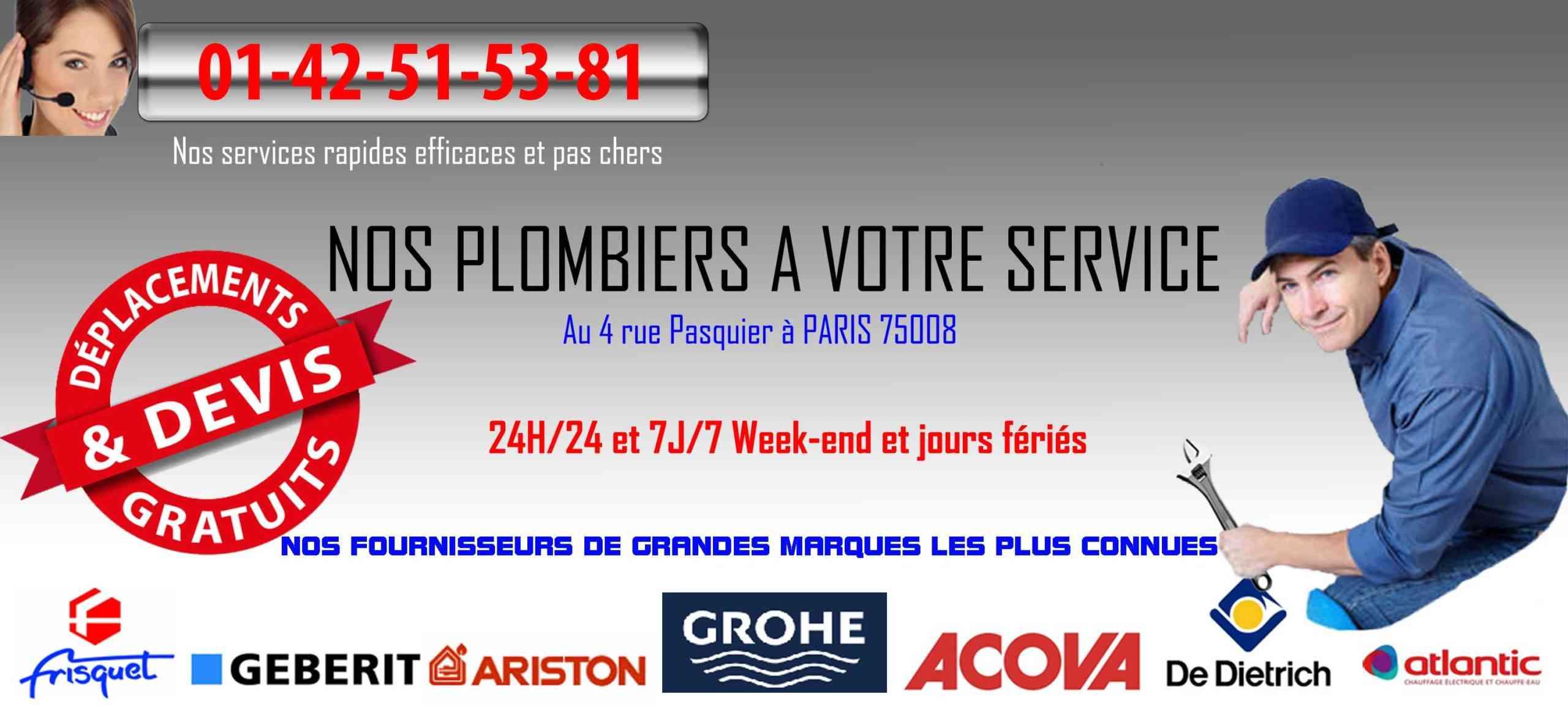 banniere plomberie paris 8
