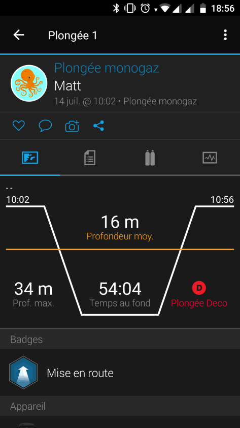 Screenshot garmin mobile