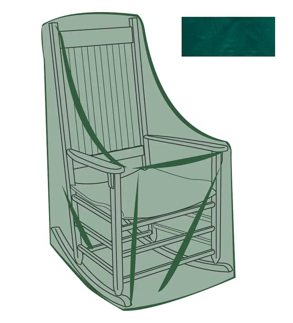Rocking Chair Outdoor Furniture Cover  Storage Helpers