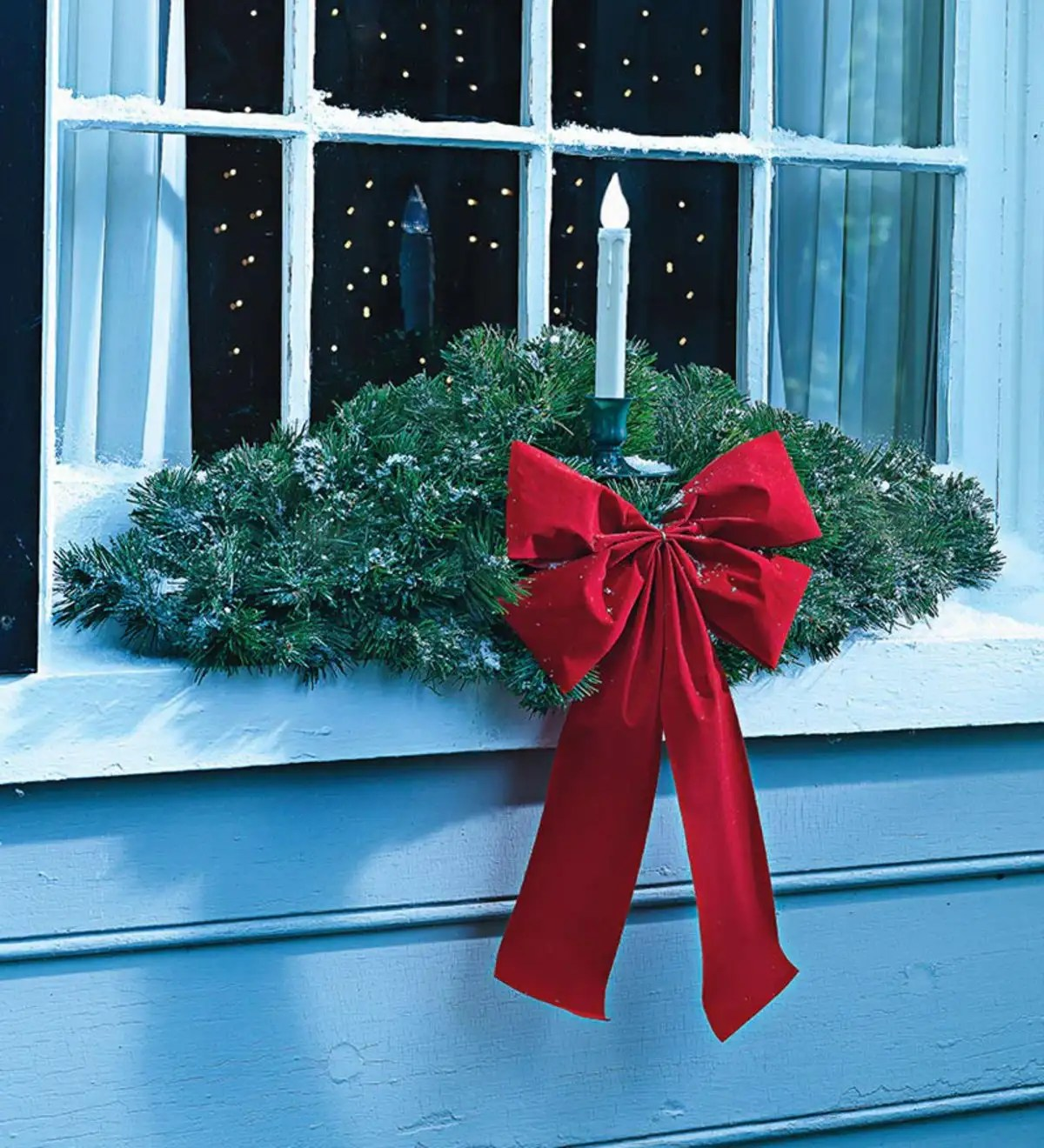 Battery Operated Christmas Decorations Windows