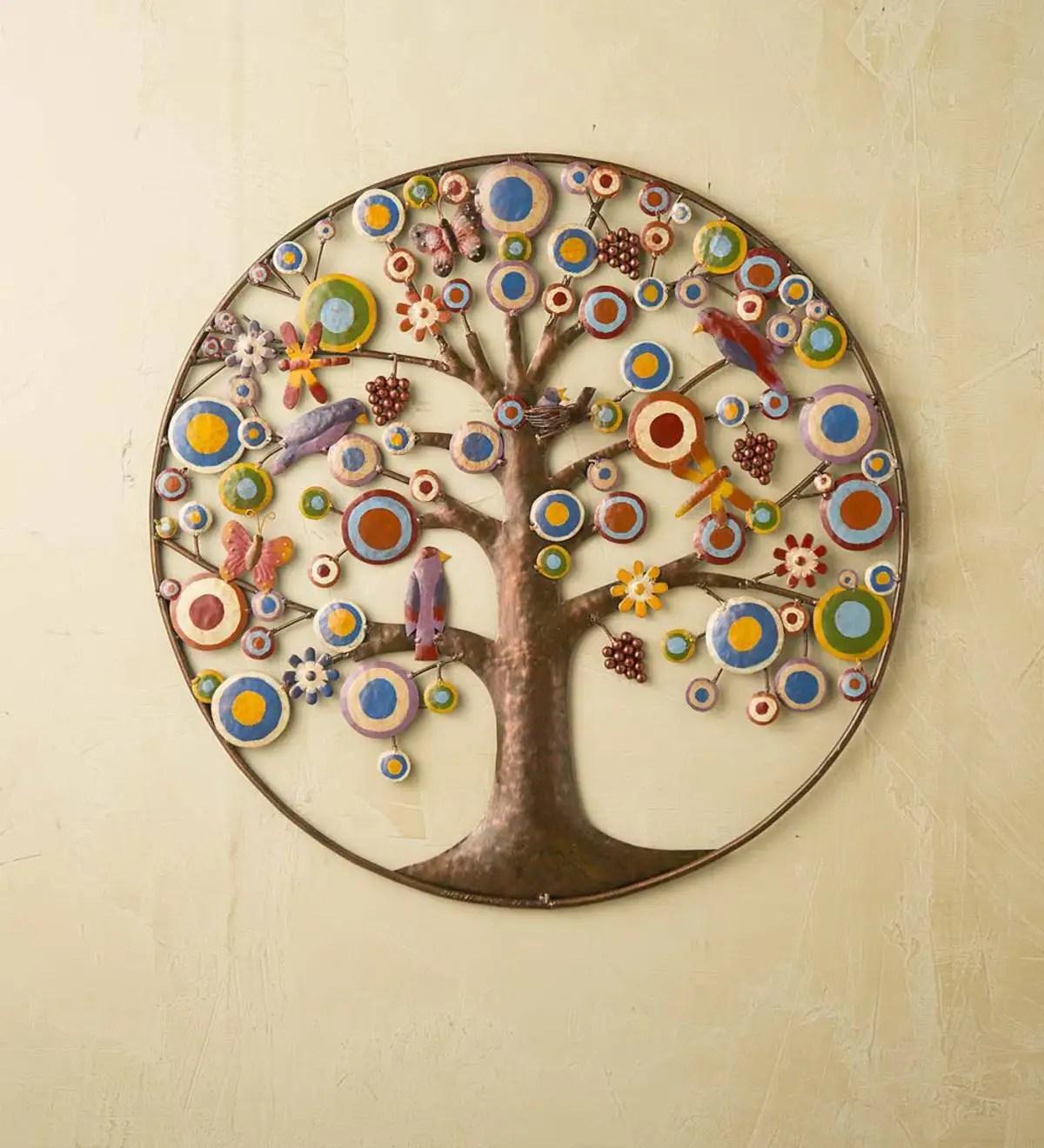 tree of life metal wall art plowhearth