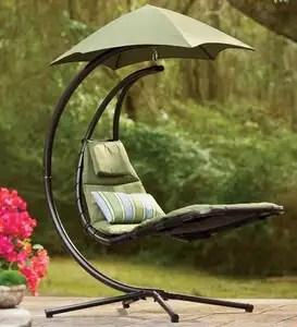 outdoor dream chair high seat for suspended lounge with umbrella plowhearth blue