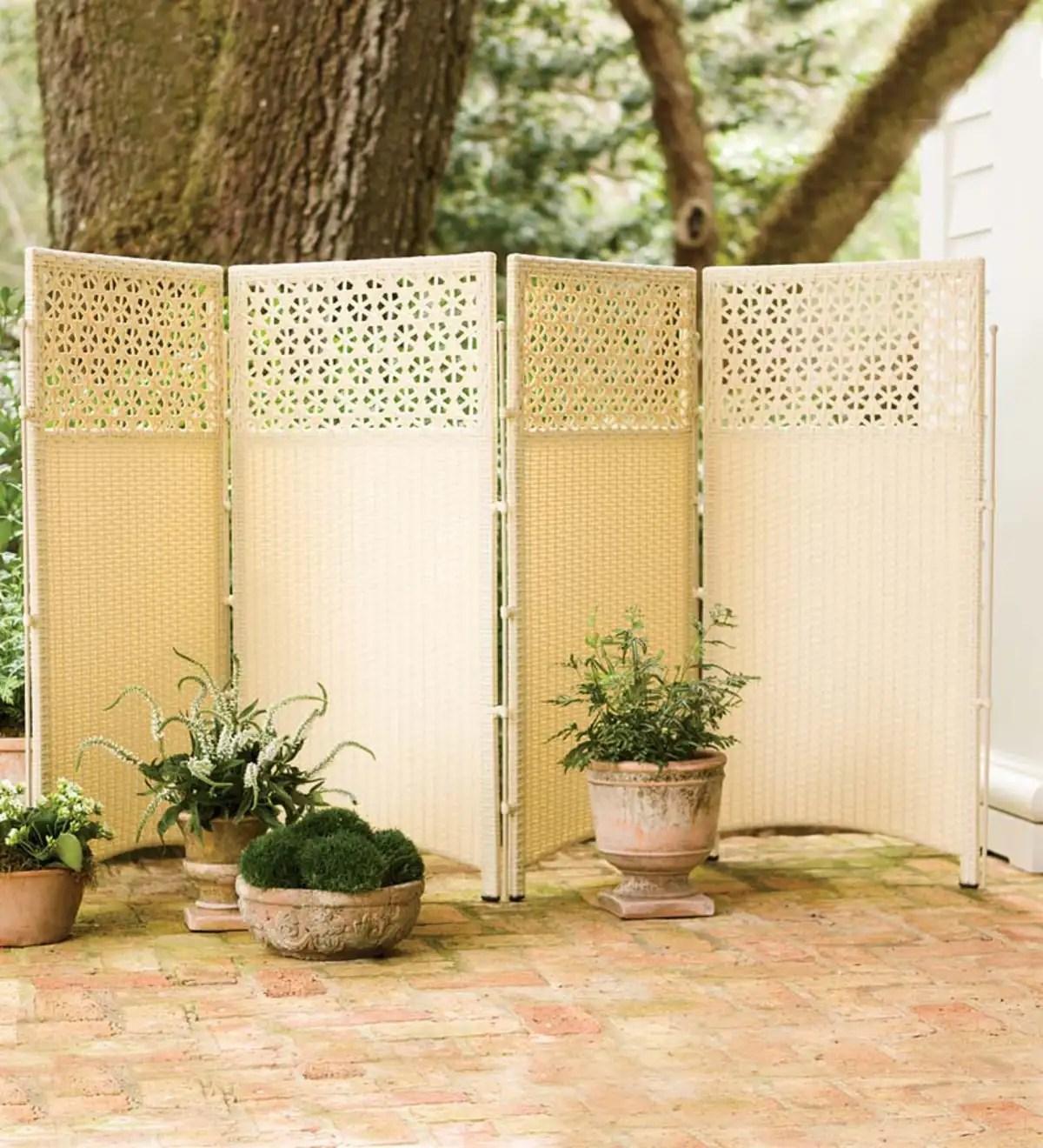 wicker outdoor patio privacy screen plowhearth