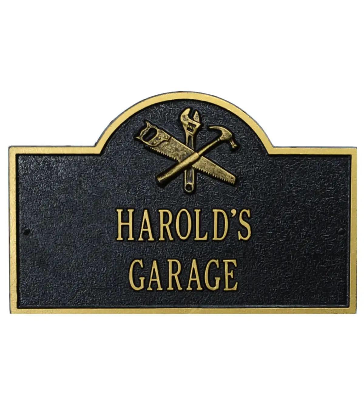 workshop arch personalized plaque