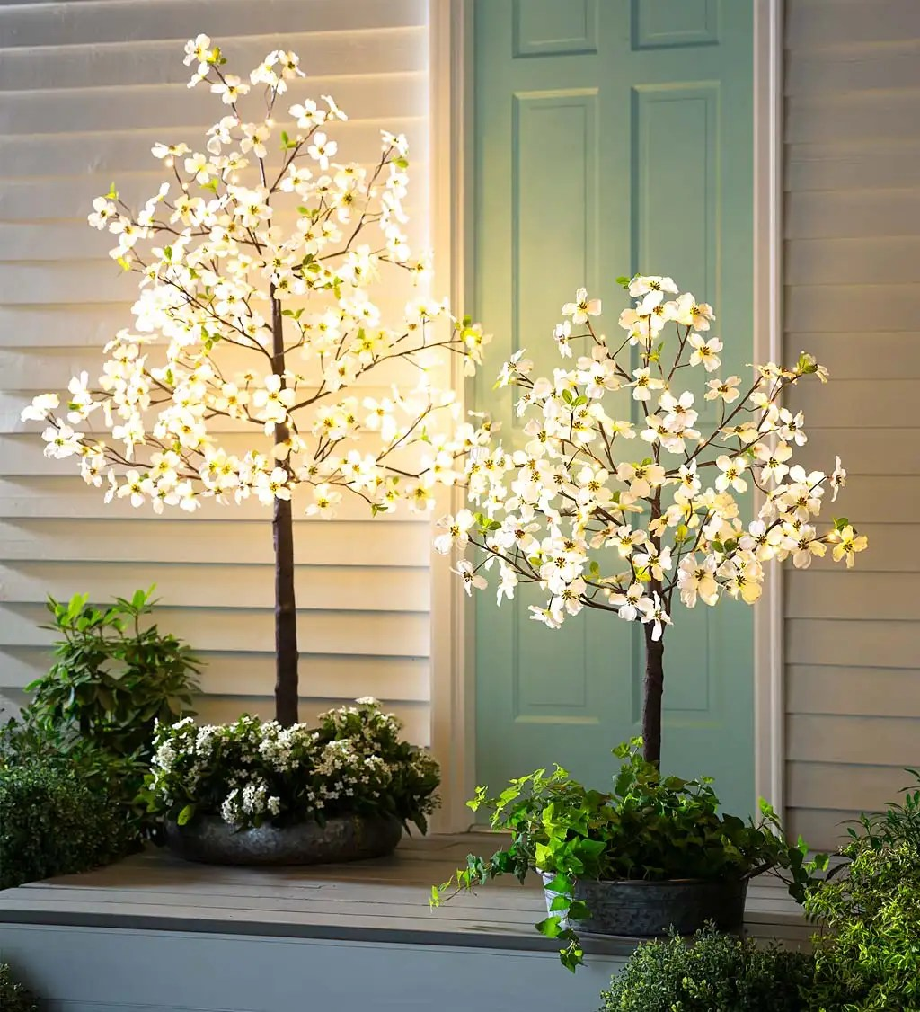 indoor outdoor electric lighted faux