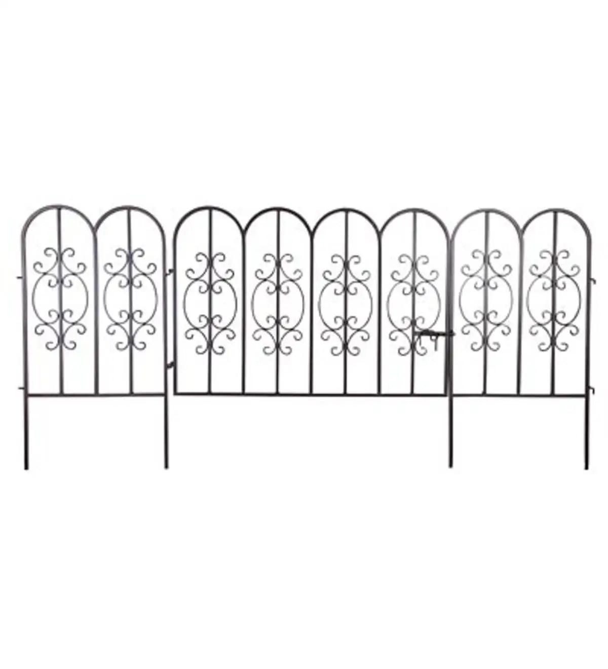 Montebello Iron Garden Fencing Set Of 2