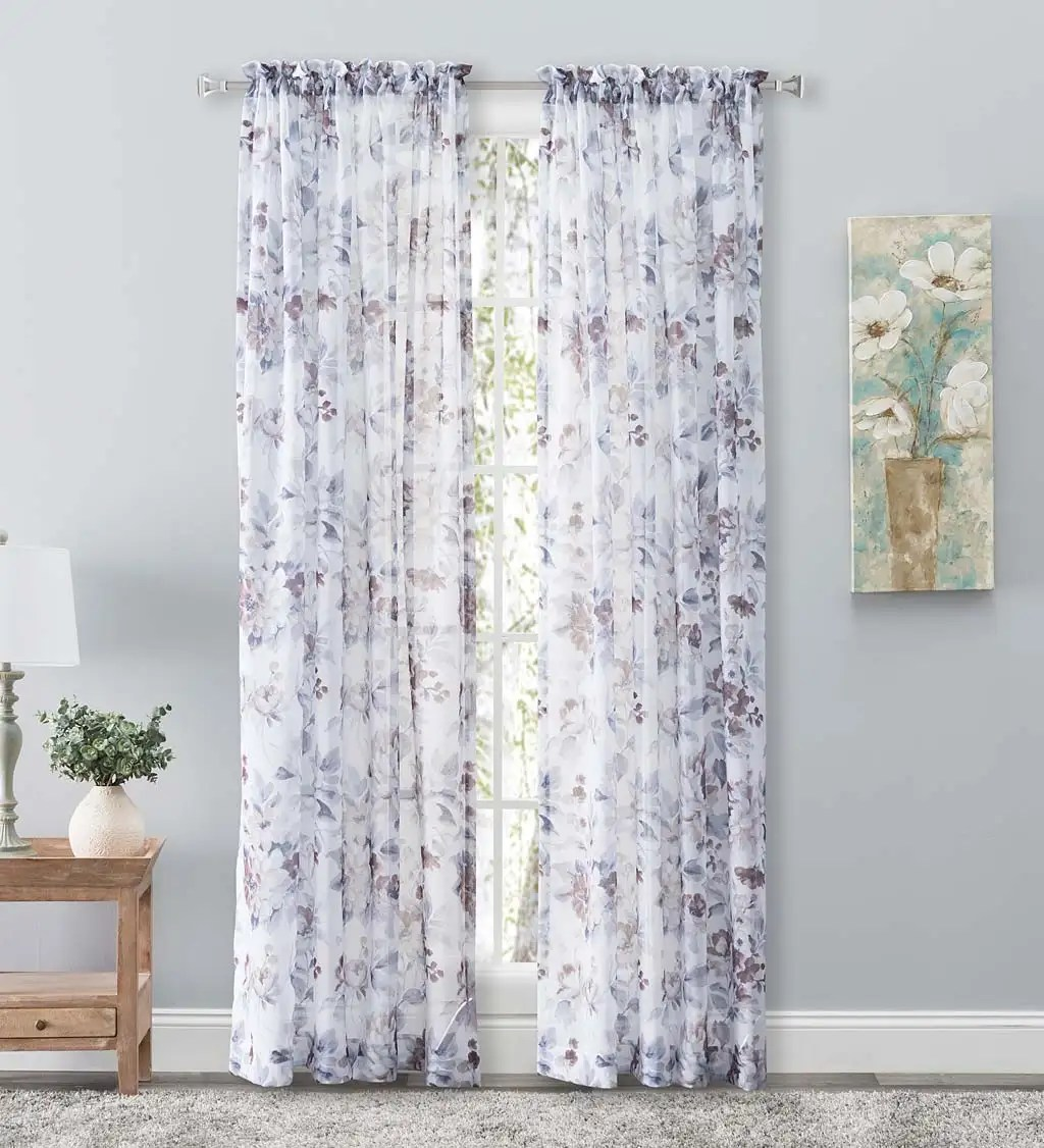 https www plowhearth com en indoor living window treatments whimsical sheer rod pocket panel curtains and valance p 1667543