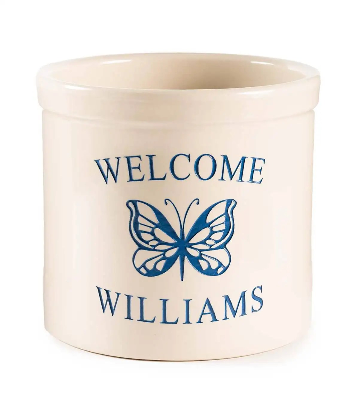 personalized stoneware crock with