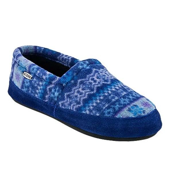Acorn Women' Polar Moc Slippers - Black And Cream L 8-9 Plowhearth