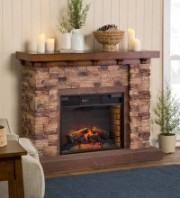Quartz Infrared Stone Fireplace | PlowHearth