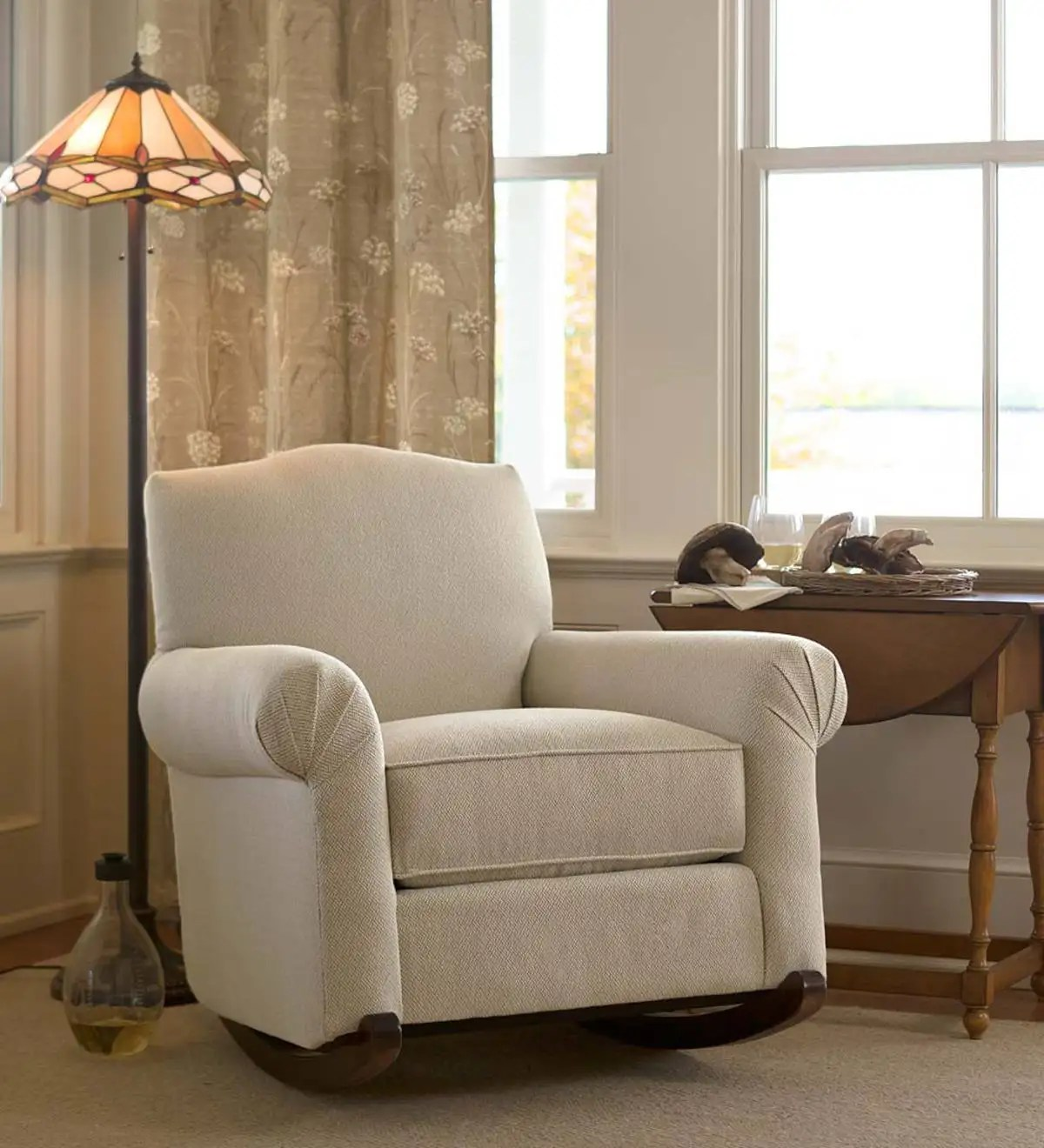 USA Made Bedford Upholstered Cottage Rocker Indoor
