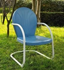 Griffith Retro Metal Lawn Chair Plowhearth