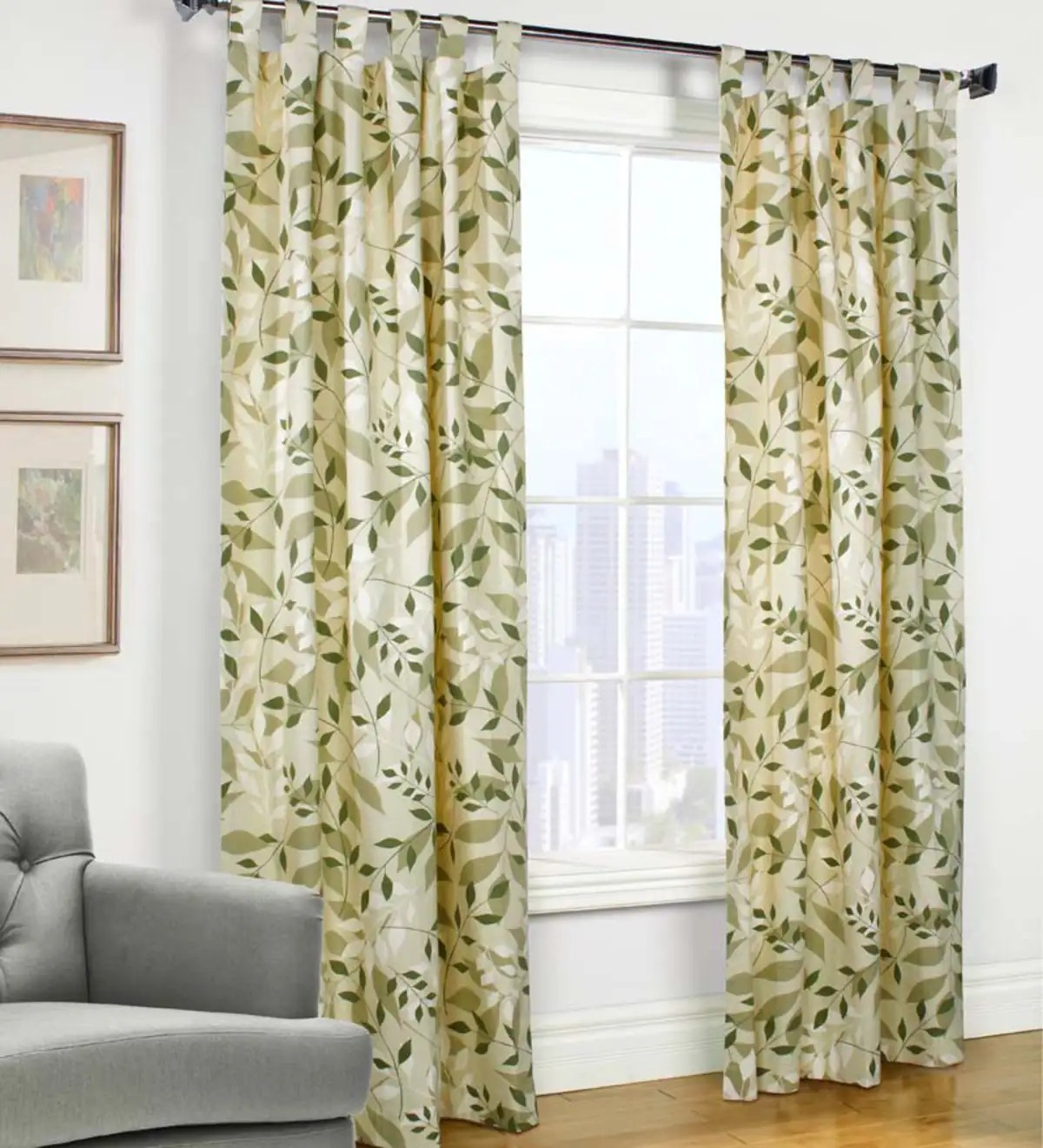 Leaves Tab Top Valance 40 W X 15 L