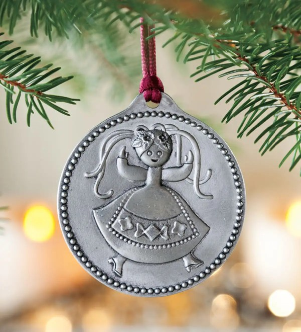 12 Days Of Christmas Pewter Ornaments Set Plowhearth