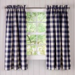 Buffalo Check Rod Pocket Cotton Curtain Pairs Plowhearth