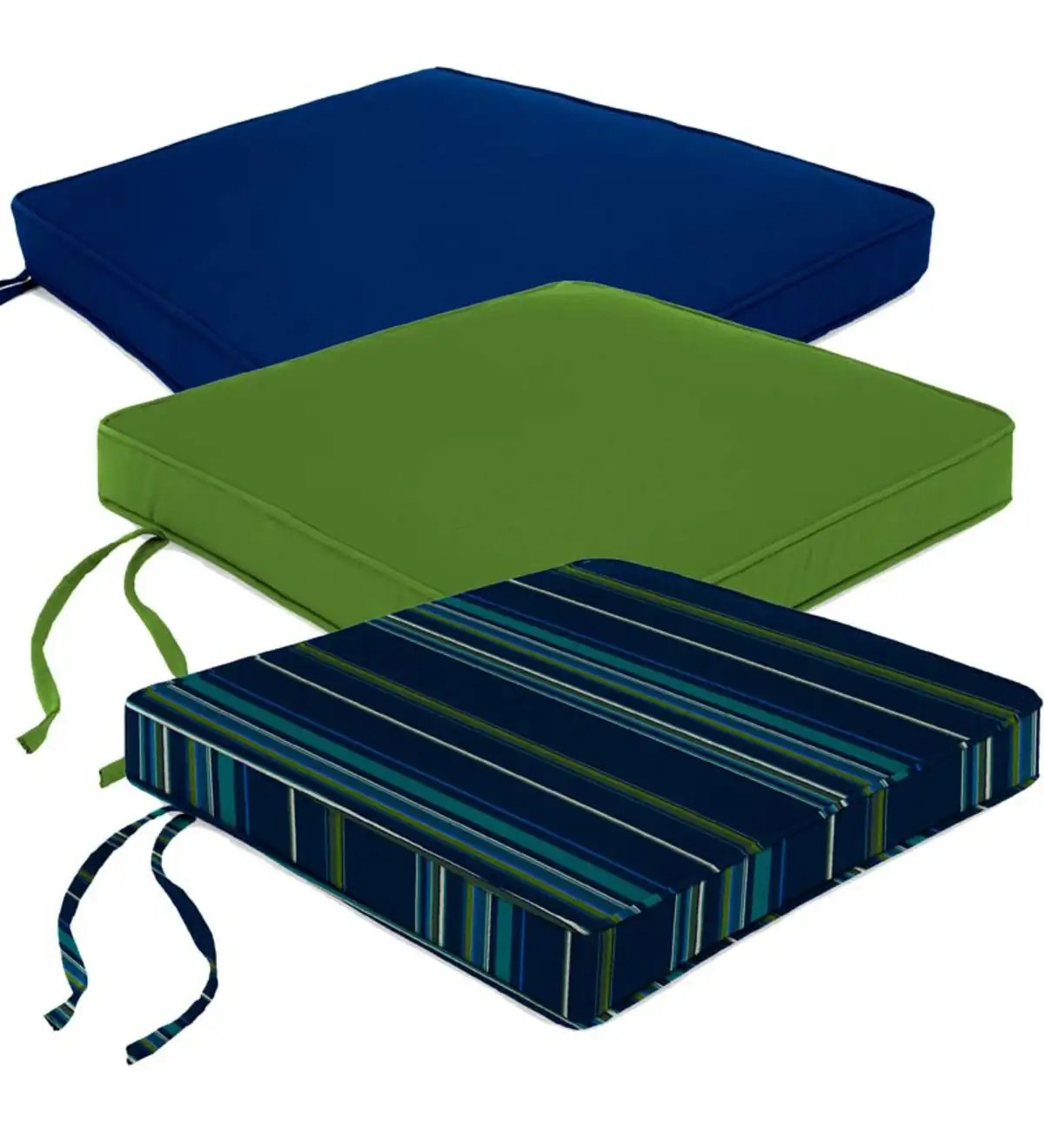 chair cushions with tie backs refrigerator deluxe sunbrella tapered rocker seat cushion ties 21