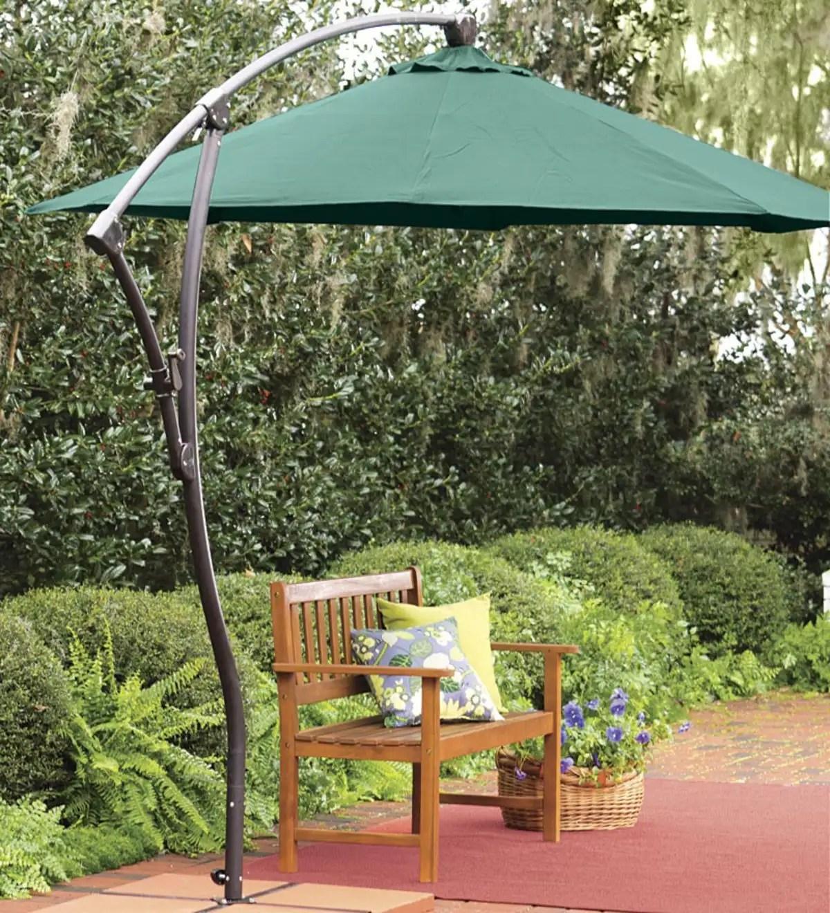 9 cantilever adjustable patio umbrella