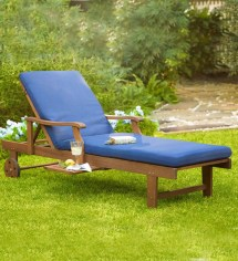 Claremont Eucalyptus Outdoor Chaise Lounges Set Of 2