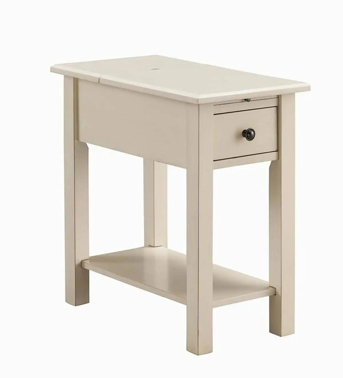 Benton Side Table With Charging Station Black Plowhearth