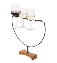 Wine Flight Wine Glass Holder And Server | PlowHearth