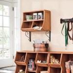 Solid Wood Wall Cubby Storage Organizer Plowhearth