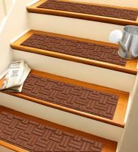 Waterhog Basket Weave Stair Treads, Set of 4 | Waterhog ...