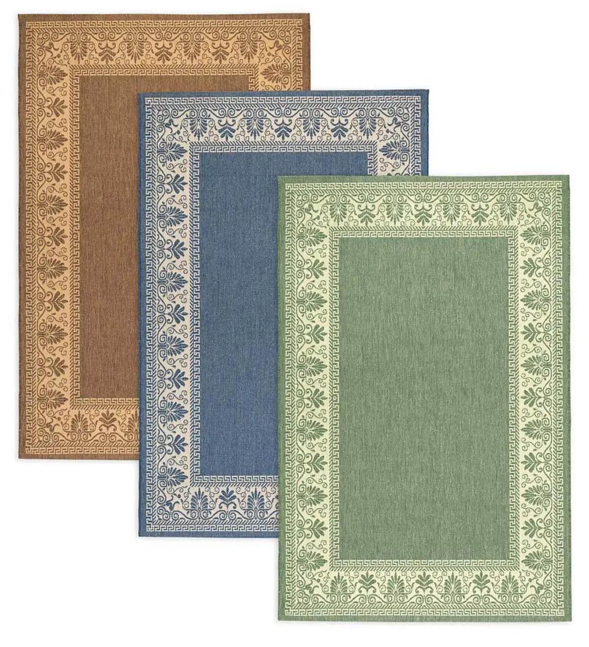 veranda border indoor outdoor rug 7 6